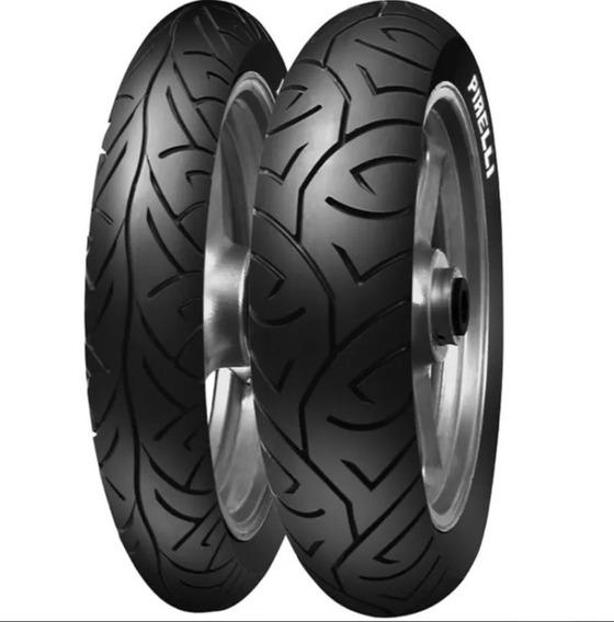 Par Pneu Pirelli Sport Demon 110 70 17 + 140 70 17 Fazer 250