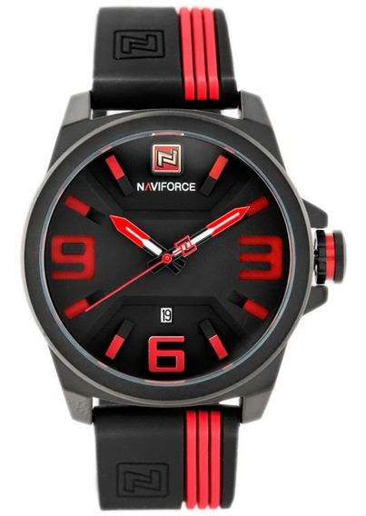 Relógio Naviforce 9098 Masculino Pulseira Silicone Original
