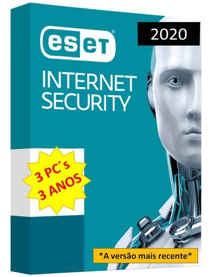 Eset Internet Security 3 Dispositivos 3 Anos Original 2020