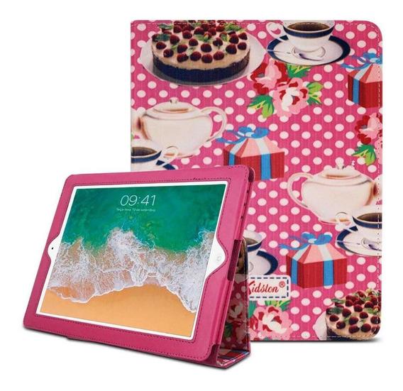 Capa Tablet iPad 2 3 E 4 9.7 Polegadas Rosa Estampa Cozinha