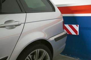 Protector Garage Estacionamiento Blanco Rojo Grande Adhesivo