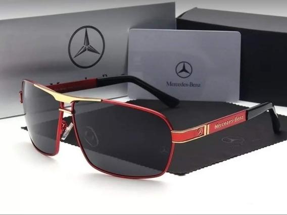 Óculos De Sol Mercedes- Benz Edição Especial Polarizado Gold