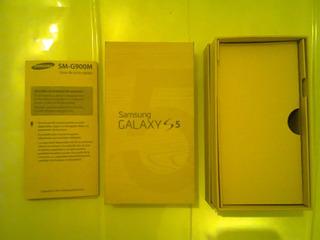 Caja Samsung Galaxy S5 + Manual Original, Como Nueva