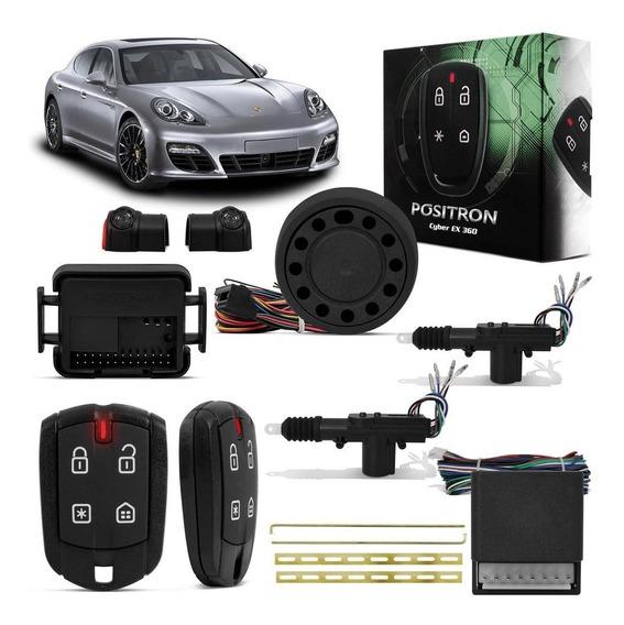 Kit Alarme Carro Pósitron Cyber Ex360 + Trava Elétrica 2pt