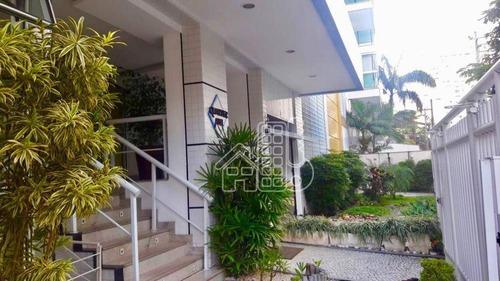 Apartamento Com 3 Dormitórios À Venda, 118 M² Por R$ 880.000,00 - Icaraí - Niterói/rj - Ap1659