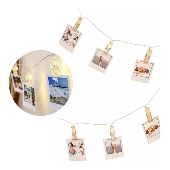 Guirnalda Luces Led 28 Broches 4 Mts Fotos Enchufe Navidad