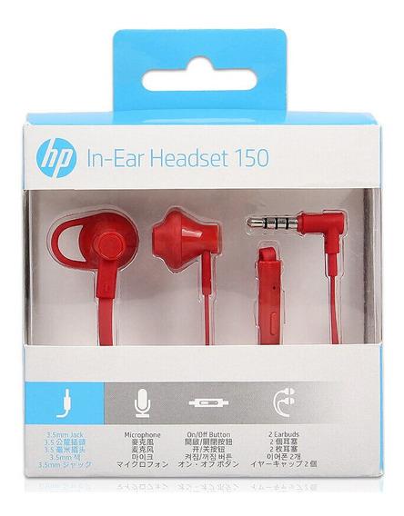 Fone De Ouvido Hp Intra-auricular H150 Vermelho X7b11aaabl