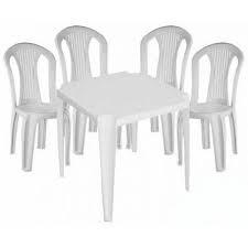 Mesa + 4 Cadeiras Plastica Dolfin Ref:254959, 254932