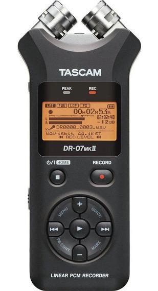 Gravador Voz Tascam Dr-07x Stereo Audio Digital Interface