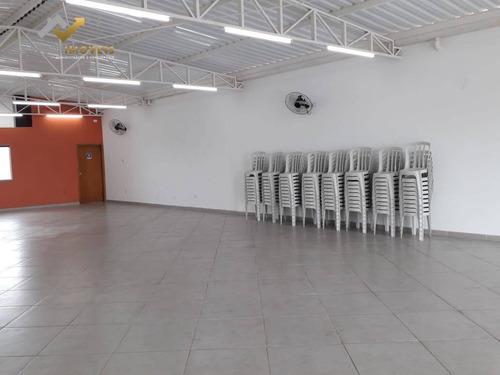 Salão Para Alugar, 220 M² Por R$ 3.600,00/mês - Vila Humaitá - Santo André/sp - Sl0069