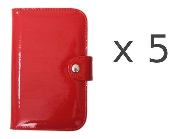 5 Billeteras De Mujer Charol Rojo Matriona Pocket Por Mayor