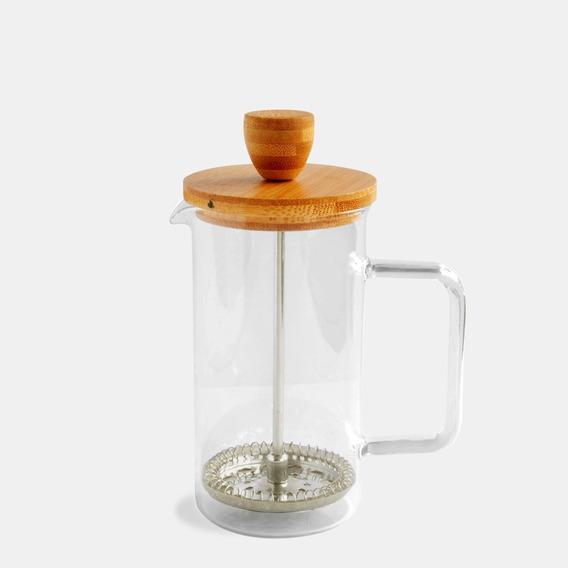 Cafetera De Vidrio C/ Tapa Bamboo 350ml Embolo Cocina Morph