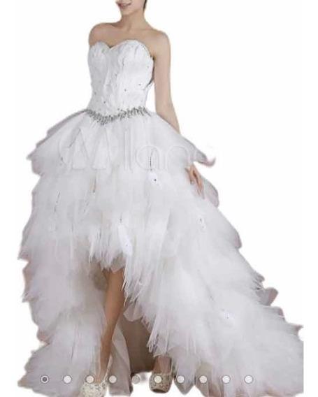 Vestido De Baile Mullet Babados E Penas Tomara Que Caia