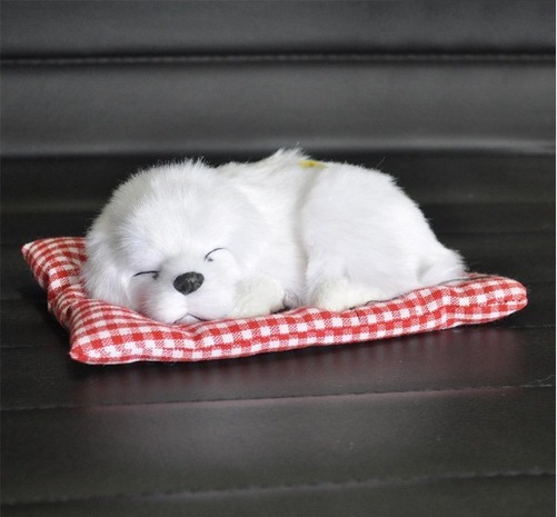 Filhote Pelúcia Cachorro Branco/preto C/almofada 18 Cm