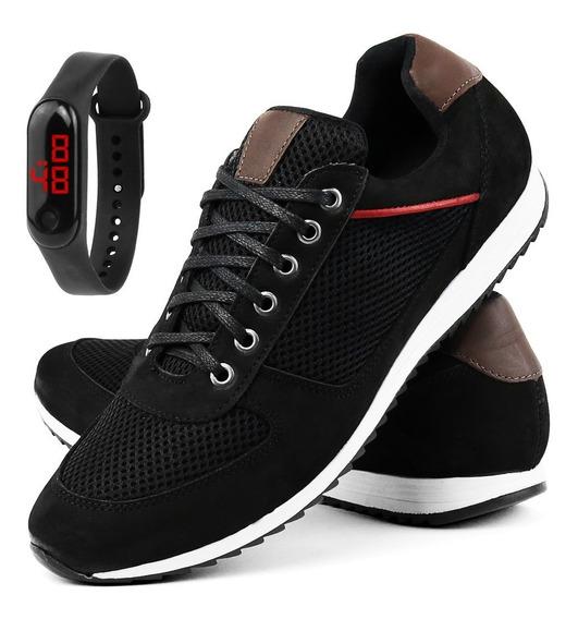 Sapatênis Jogging Lançamento Black Friday + Relógio Digital