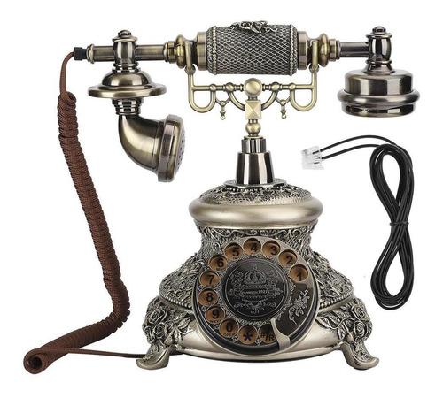 Teléfono Tocadiscos, Ms-5700d Plato Giratorio Dial Antiguo R
