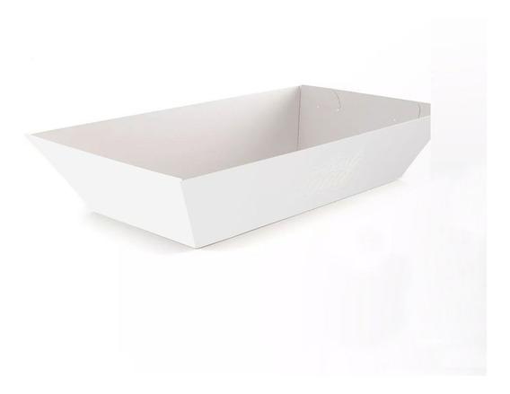 Embalagem Cestinha Food Truck Bandeja Branco/kraft G (200un)