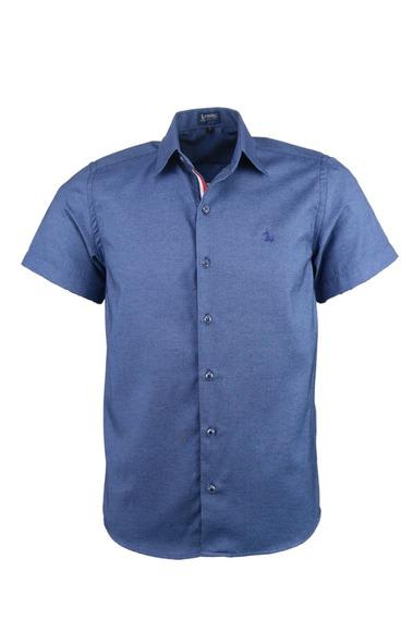 Camisa Dakar Manga Curta - Azul - Ref 1596