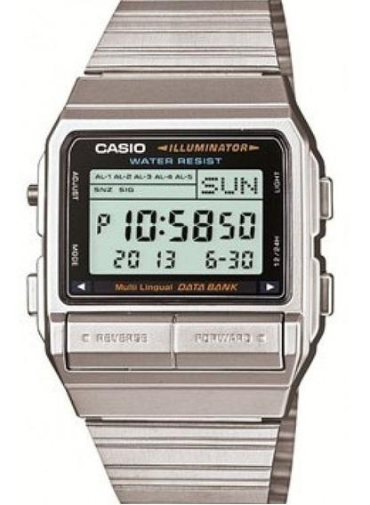 Relógio Casio Unissex Vintage Prata Digital Db-380-1df