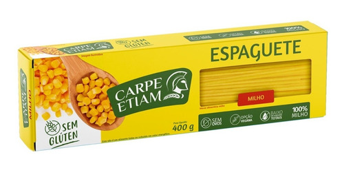 Imagem 1 de 1 de Espaguete Zero Glúten Milho 400g Carpe Etiam