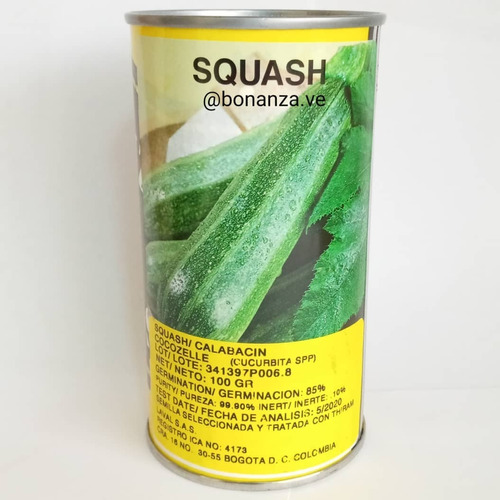Semillas De Calabacin Cocozelle X 100 Gr Bonanza