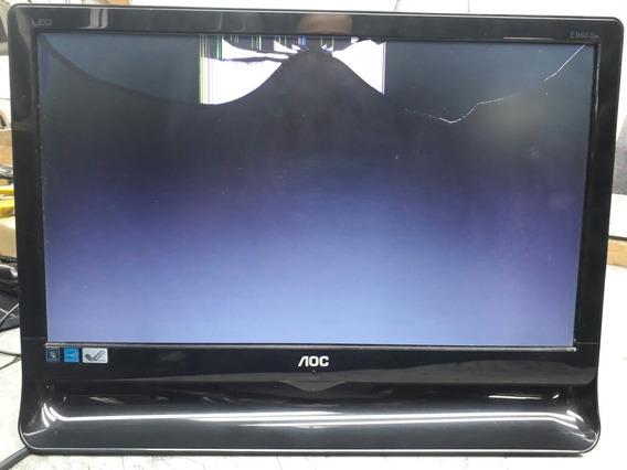 Monitor Aoc (mod.e966swn)com Tela Quebrada