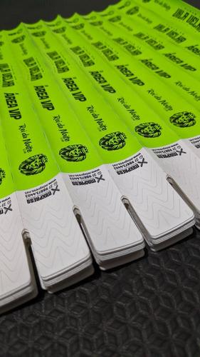 Imagem 1 de 4 de Pulseira Identificação Nylon Impressão Premium . 100 Unids
