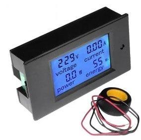 Kit C/2 Wattímetro Voltímetro Amperímetro 100a Pzem 061