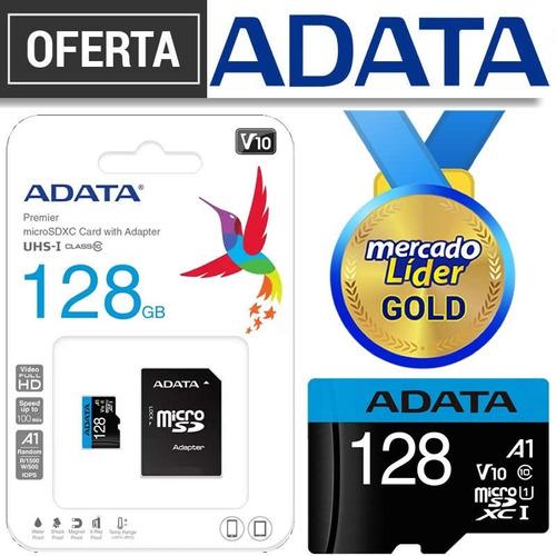 Memoria Micro Sd 128 Gb Adata Original Clase 10 Inc Iva