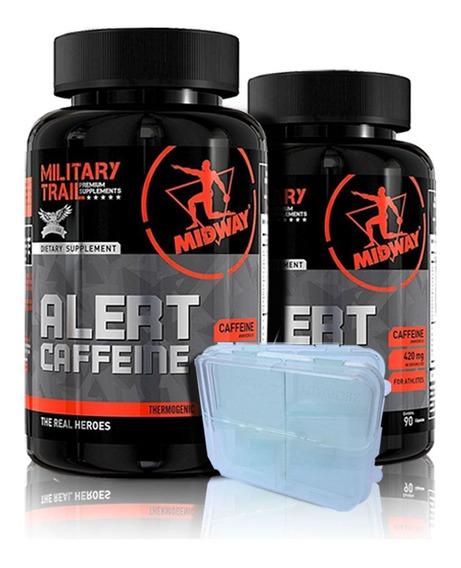 Kit 2x Alert Caffeine 90caps Cafeína 420mg - Midway Oficial