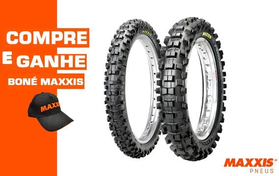 Par Pneu 70/100-17 + 90/100-14 Maxxis M-7312 Maxxcross Si