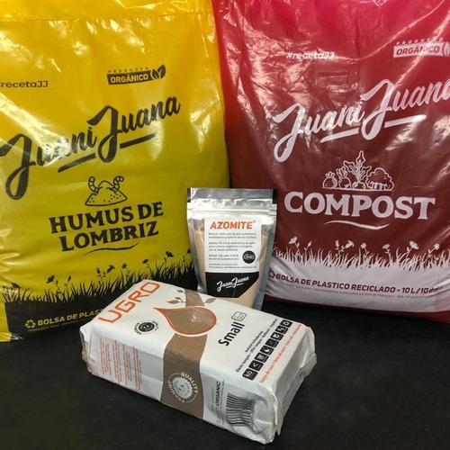 Humus 10l + Compost 10l + Ugro Coco 11l + Azomite 250g