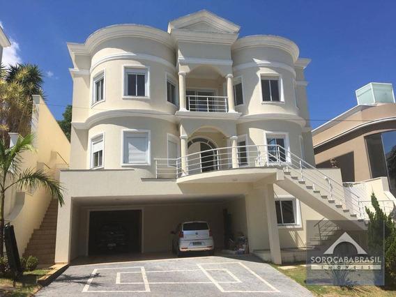Sobrado Com 4 Dormitórios À Venda, 545 M² Por R$ 2.500.000 - Condomínio Millenium - Sorocaba/sp, Próximo Ao Shopping Iguatemi - So0130