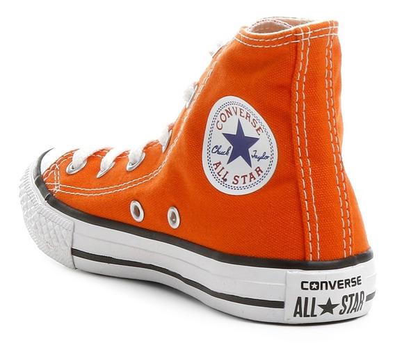 Tênis Converse All Star Cano Alto Laranja