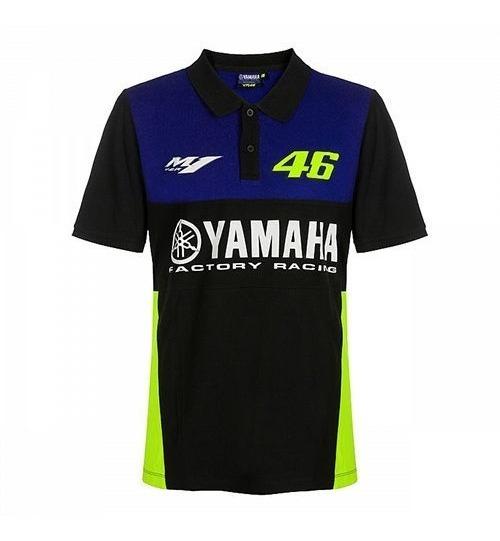 Playera Polo Negra Yamaha Valentino Rossi Vr46 Envio Gratis