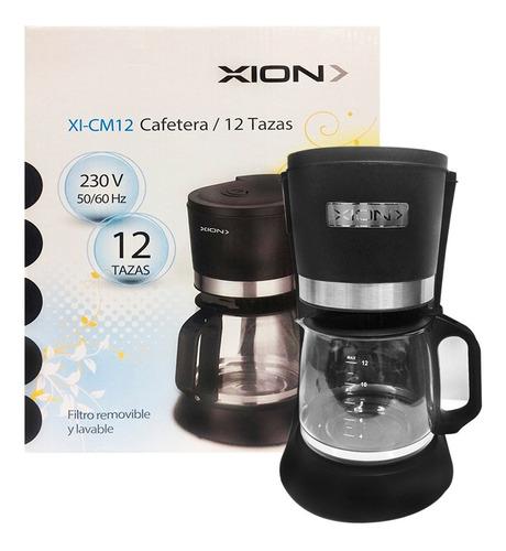 Imagen 1 de 6 de Cafetera Electrica Xion 12 Tazas Anti-derrame 1.2l