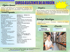 Curso Asistente De Almacen. ( Logistica- Almacen )