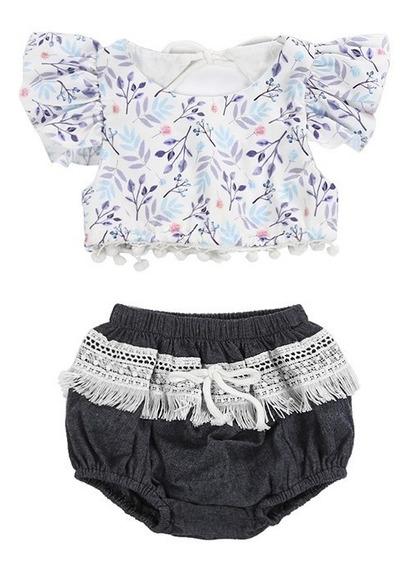 Ropa Para Niña Moda Para Bebe Outfit Blusita Escote Calidad