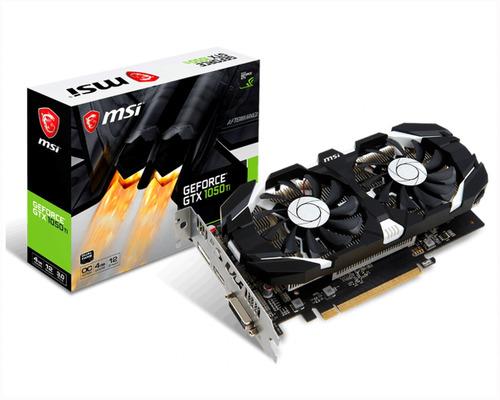Imagen 1 de 6 de Placa De Video Msi Gtx 1050ti 4gb Oc Nvidia Geforce Cuotas