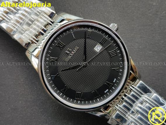 Relógio Masculino Seculus 1003g4705 Swiss Made Calendário