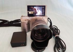 Câmera Nex F3 Lente 18-55 Visor 180 Graus 9.3k Clicks Apenas