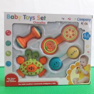 Brinquedo Infantil Kids Bebe Baby Toys Set Chocalho