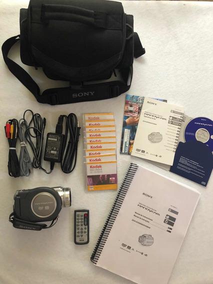 Sony - Filmadora Modelo Dcr-dvd505 + Bolsa + 09 Minis Dvds
