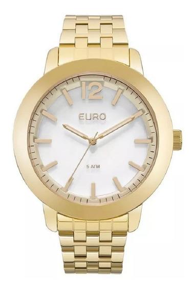 Relógio Euro Feminino Euy121e6aa/4b Fashion Dourado