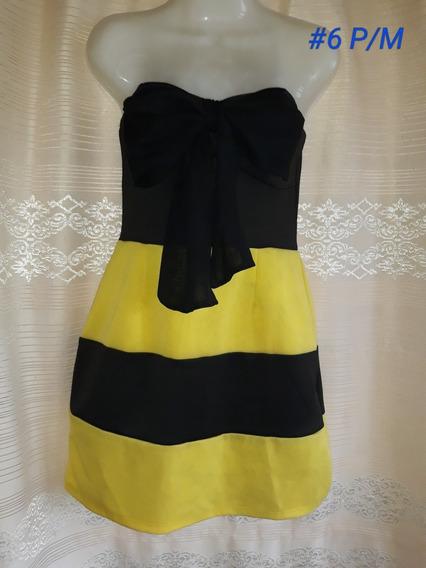 Vestido Strapless Corto (#6). Talla P/m