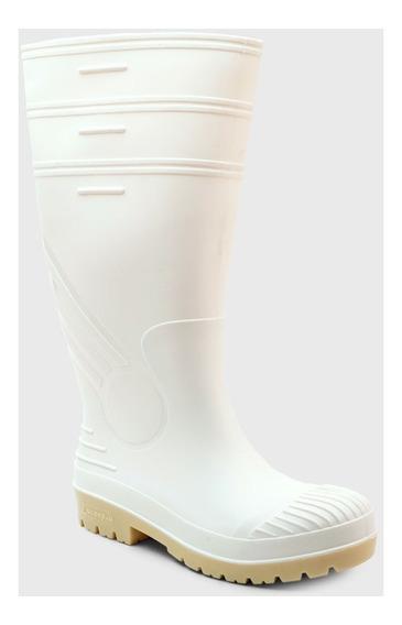 Bota De Lluvia Pvc Goma Color Blanca