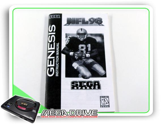 Manual Nfl 98 Original Sega Mega Drive / Genesis