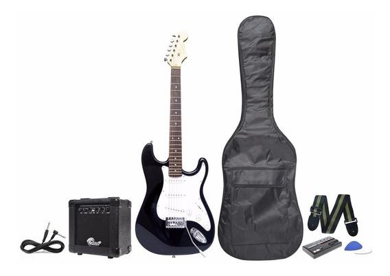 Combo Guitarra Electrica + Amplificad + Estuche + Accesorios