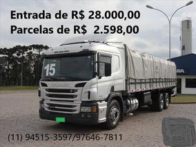 Scania P-310 - Prata/2015 Optcruise Na Carroceira