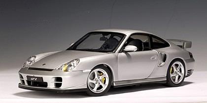 Porsche 911 Gt2 (996) Plata 1/18 Autoart 77841